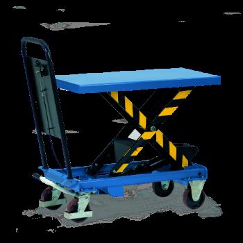 Scheren-Hubtischwagen mit Rollenaufsatz