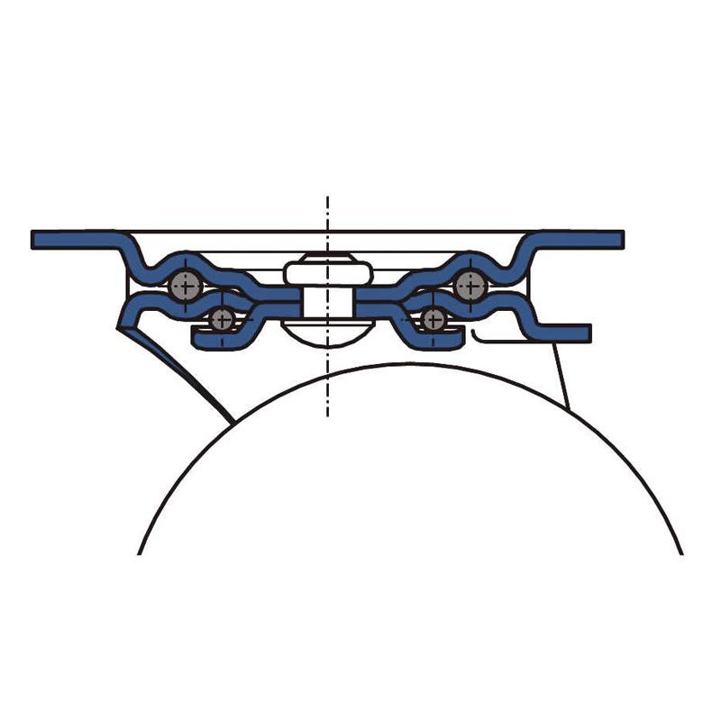Bockrolle aus Polyamid mit Edelstahlgehäuse. Tragkraft 150 bis 400 kg