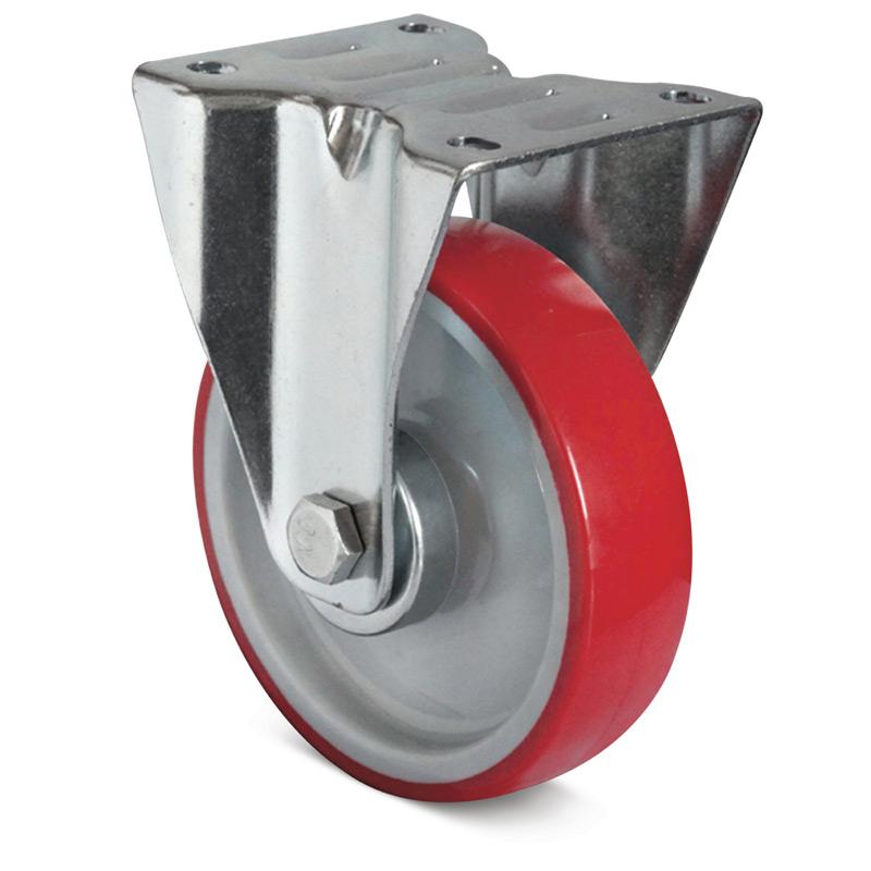 Bockrolle Basic aus Polyurethan. Tragkraft 150 - 300 kg