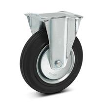 Bockrolle Premium aus Vollgummi. Stahlblechfelge. Tragkraft 50 - 205 kg