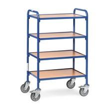 Boční vozík fetra® pro skladování boxy s otevřenou přední částí, se základovými deskami