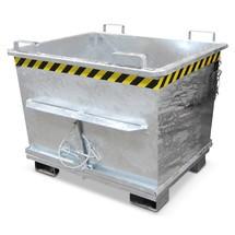 Bodemklepcontainer. Capaciteit tot 2000 kg, vol. tot 1m³, gelakt/verzinkt