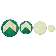 Bodenmarkierungspfeil, grün-/vollflächig langnachleuchtend