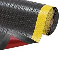 Bodenmatte 2-lagig, PVC, Wahlweise in schwarz oder schwarz/gelb, 4 Maße zur Auswahl