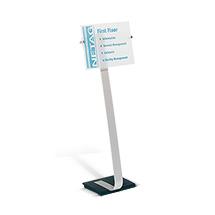 Bodenständer mit Infotafel Info Sign, Aluminium, silber, Wahlweise in A4 oder A3 Format