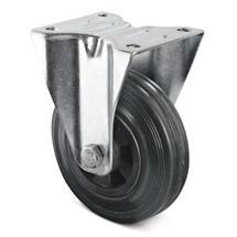 Bokwiel Basic van volrubber op PP-velgen. Capaciteit 70- 205 kg