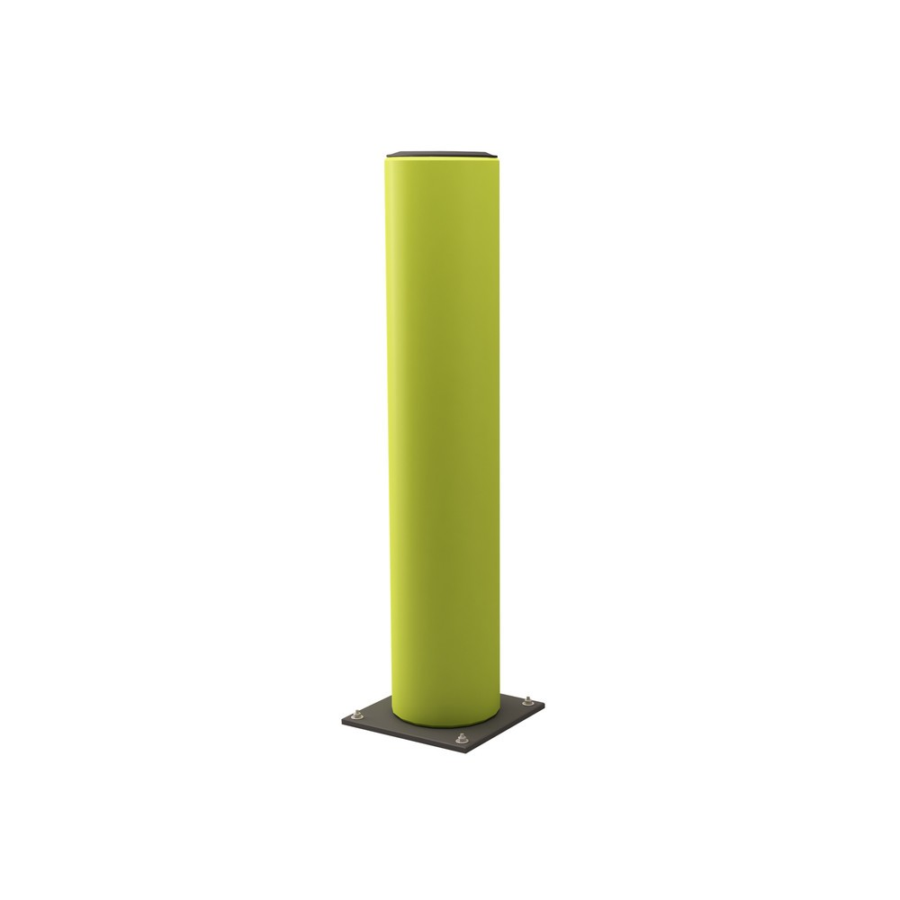 Bolardo de protección contra impactos, fluorescente