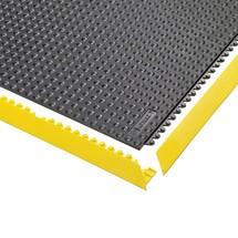 Bordes biselados de alfombras modulares para puestos de trabajo de soldadura