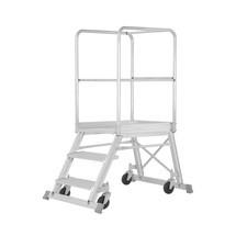 Bordestrap HYMER ® met platformleuning + wielen. Aan één zijde oploopbaar