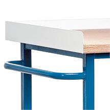 Bordleiste Stahlblech für Werkstattwagen mit/ohne Loch-/Schlitzplatten