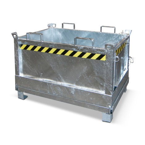 Bottom release container, 3x stackable, galvanised