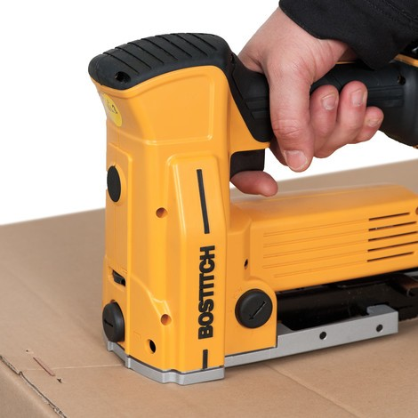 Box stapler with battery
