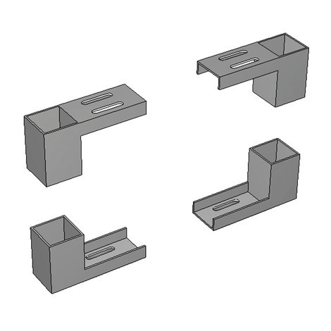 Bracket set for perforated plate