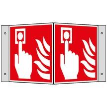 Brandbeveiligingsbord – Brandmelder (handmatig), hoekbord