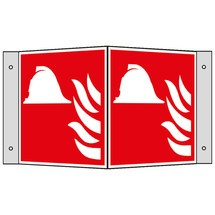 Brandbeveiligingsbord, hoek, brandbestrijdingsmiddelen/-apparatuur