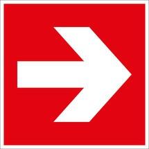 Brandbeveiligingsbord richtingaanduiding links/rechts