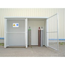 Brandschutz-Gasflaschenlager GFL-P 2, für Einzelflaschen und Paletten
