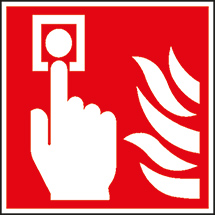 Brandschutzschild Brandmelder