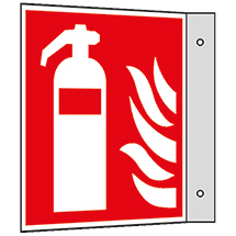 Brandschutzschild Fahne Feuerlöscher