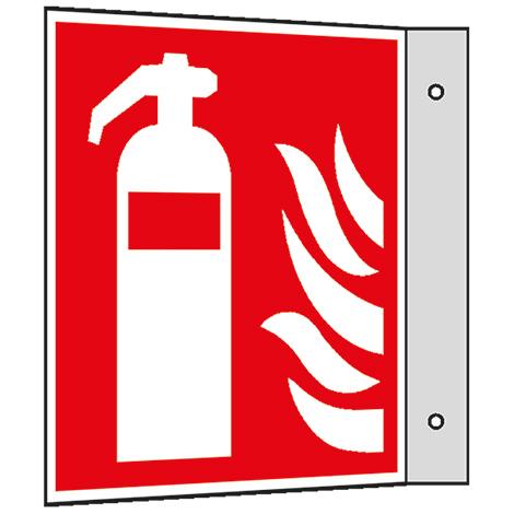 Brandschutzschild Fahne Löschschlauch zur Brandbekämpfung