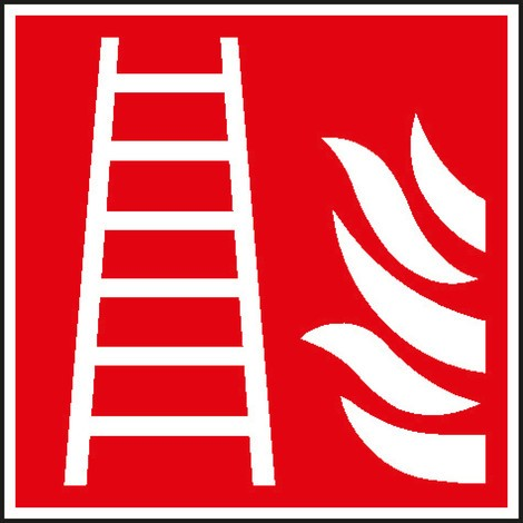 Brandschutzschild – Feuerleiter