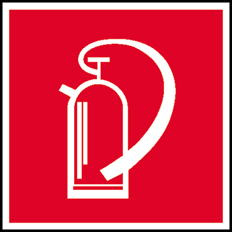 Brandschutzschild Feuerlöscher, Bild: Feuerlöscher