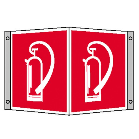 Brandschutzschild – Feuerlöscher, Winkel