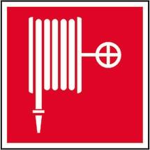 Brandschutzschild – Löschschlauch