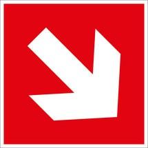 Brandschutzschild – Richtungsangabe aufwärts/abwärts