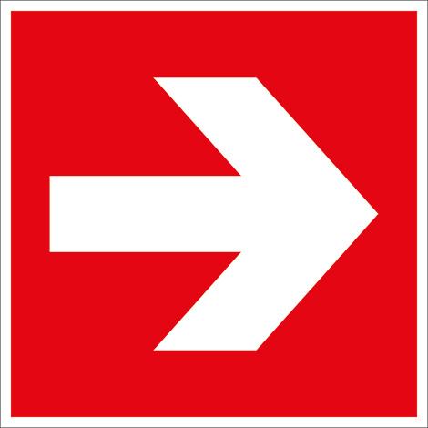 Brandschutzschild Richtungsangabe links/rechts