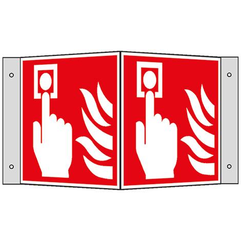 Brandschutzschild Winkel Brandmelder