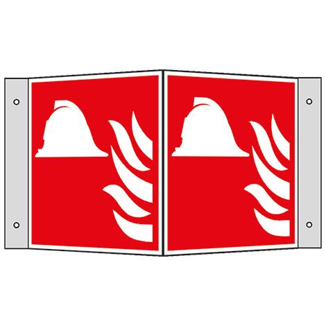 Brandschutzschild Winkel Mittel/Geräte Branbekämpfung