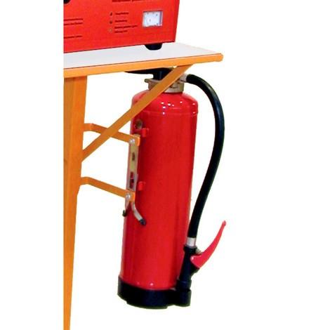 Brandsläckare för plats för batteriladdare
