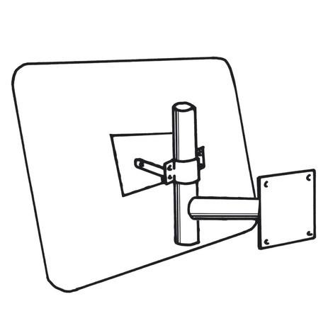Brazo de pared para espejo industrial DIAMOND