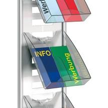 Brochure compartiment voor 2x DIN lang