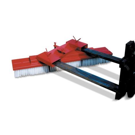 Broom for fork lift trucks and wheel loaders