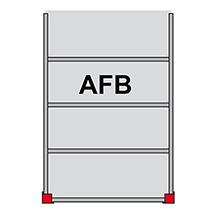 Bühnen-Modulsystem Anbaufeld B, 500kg/m², LxB 3000x5000mm