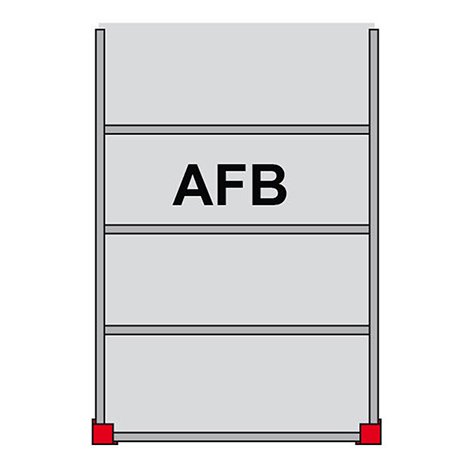 Bühnen-Modulsystem Anbaufeld B, 500kg/m², LxB 4000x4000mm