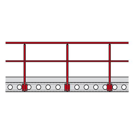 Bühnen-Modulsystem, Geländer
