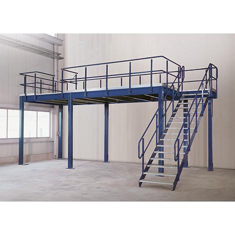 Bühnen-Modulsystem Grundfeld, 350kg/m², LxB 3000x4000mm