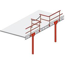 Bühnen-Modulsystem - Übergabestation