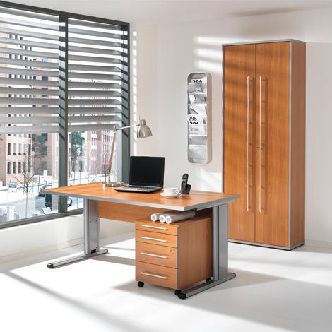 b ro komplett set elegant schreibtisch rollcontainer. Black Bedroom Furniture Sets. Home Design Ideas