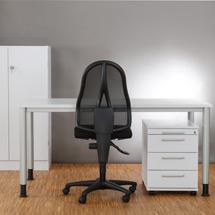 Büro-Komplett-Set Small Office, Schreibtisch, Rollcontainer und Sideboard