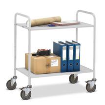 Büro-Tischwagen fetra® mit 2 Böden ohne Rückwand. Tragkraft 150 kg