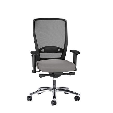 Bürodrehstuhl Prosedia Komfort. Mit Netz-Rückenlehne 620 mm