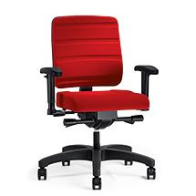 Bürodrehstuhl Prosedia Yourope Pro. Mit Komfortpolster und  Kunststoffkreuz