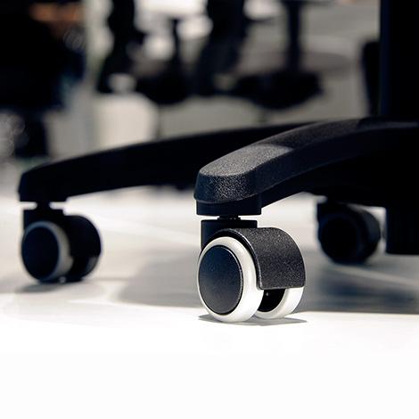 Bürodrehstuhl-Rollen für harte Böden