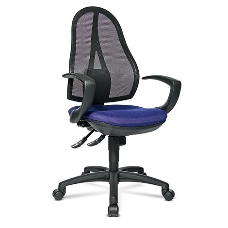 Bürodrehstuhl Topstar® Open Point Synchro. Mit atmungsaktivem Netzrücken