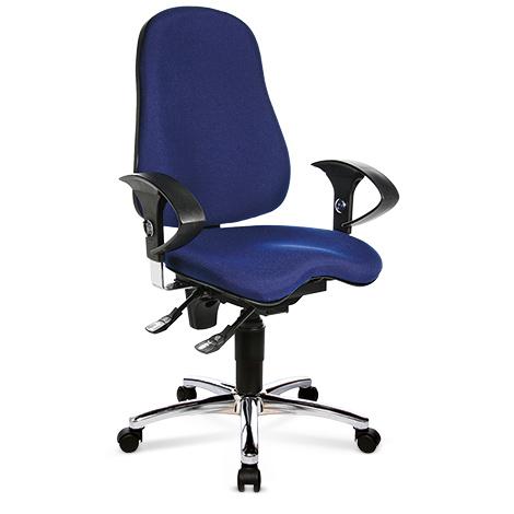 Bürodrehstuhl Topstar® Ortho 10. Mit Polsterrücken und.höhenverstellb. Armlehnen