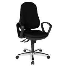 Bürodrehstuhl Topstar® Synchro-Steel II, Rückenlehne gepolstert